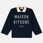 Maison Kitsune Polo Women's Sweatshirt Cropped Navy photo- 0