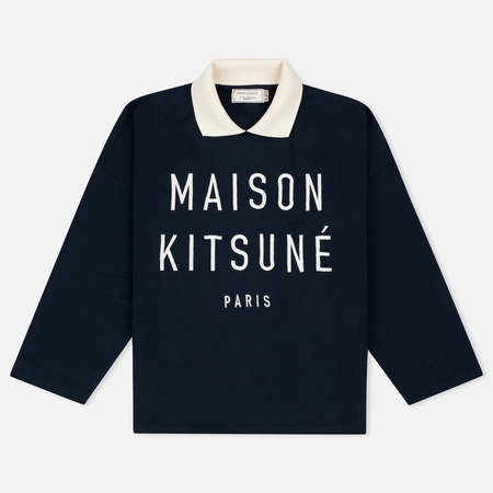 Maison Kitsune Polo Women's Sweatshirt Cropped Navy