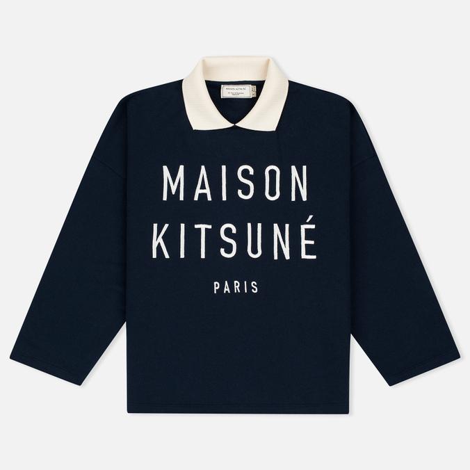 Maison Kitsune Polo Women's Sweatshirt Cropped Navy