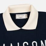 Maison Kitsune Polo Women's Sweatshirt Cropped Navy photo- 1