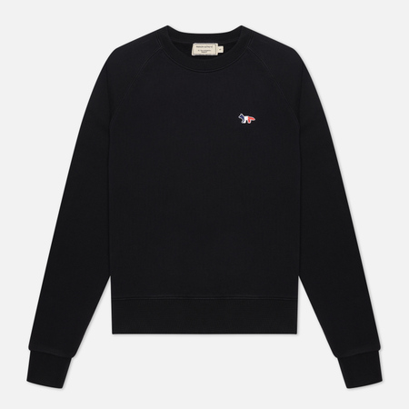 Женская толстовка Maison Kitsune Tricolor Fox Patch Black