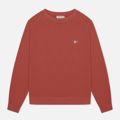 Женская толстовка Maison Kitsune Tricolor Fox Patch Dark Pink