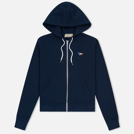 Женская толстовка Maison Kitsune Tricolor Fox Patch Full Zip Dark Blue
