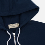 Женская толстовка Maison Kitsune Tricolor Fox Patch Full Zip Dark Blue фото- 1