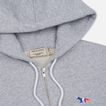 Женская толстовка Maison Kitsune Tricolor Fox Patch Full Zip Light Grey Melange фото- 1