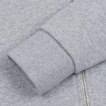 Женская толстовка Maison Kitsune Tricolor Fox Patch Full Zip Light Grey Melange фото- 5
