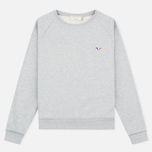 Maison Kitsune Tricolor Fox Patch Women's Sweatshirt Grey Melange photo- 0