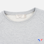Maison Kitsune Tricolor Fox Patch Women's Sweatshirt Grey Melange photo- 1
