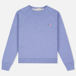 Женская толстовка Maison Kitsune Tricolor Fox Patch Lavender Blue фото- 0