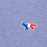 Maison Kitsune Tricolor Fox Patch Women's Sweatshirt Lavender Blue photo- 2