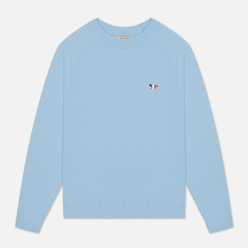 Женская толстовка Maison Kitsune Tricolor Fox Patch Light Blue