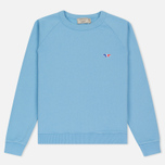 Женская толстовка Maison Kitsune Tricolor Fox Patch Light Blue фото- 0