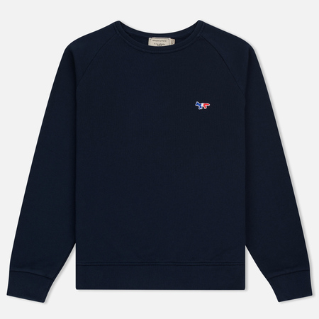 Женская толстовка Maison Kitsune Tricolor Fox Patch Navy