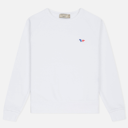 Женская толстовка Maison Kitsune Tricolor Fox Patch White