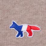 Женская толстовка Maison Kitsune Zip Hoodie Tricolor Fox Patch Beige Melange фото- 3