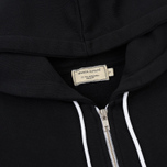 Женская толстовка Maison Kitsune Zip Hoodie Tricolor Fox Patch Black фото- 1