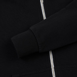 Женская толстовка Maison Kitsune Zip Hoodie Tricolor Fox Patch Black фото- 4