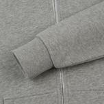 Женская толстовка Maison Kitsune Zip Hoodie Tricolor Fox Patch Grey Melange фото- 4