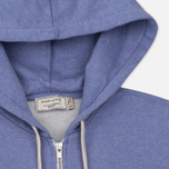 Женская толстовка Maison Kitsune Zip Hoodie Tricolor Fox Patch Lavender Blue фото- 1