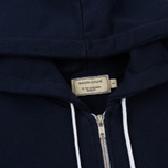 Женская толстовка Maison Kitsune Zip Hoodie Tricolor Fox Patch Navy фото- 1