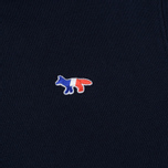 Женская толстовка Maison Kitsune Zip Hoodie Tricolor Fox Patch Navy фото- 2