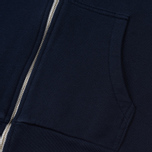Женская толстовка Maison Kitsune Zip Hoodie Tricolor Fox Patch Navy фото- 3