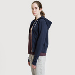 Женская толстовка Maison Kitsune Zip Hoodie Tricolor Fox Patch Navy фото- 6