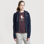 Женская толстовка Maison Kitsune Zip Hoodie Tricolor Fox Patch Navy фото- 5