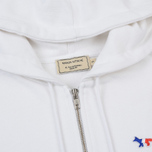 Женская толстовка Maison Kitsune Zip Hoodie Tricolor Fox Patch White фото- 1