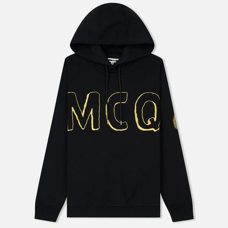 Женская толстовка McQ Alexander McQueen Boyfriend Hoodie MCQ Font Darkest Black