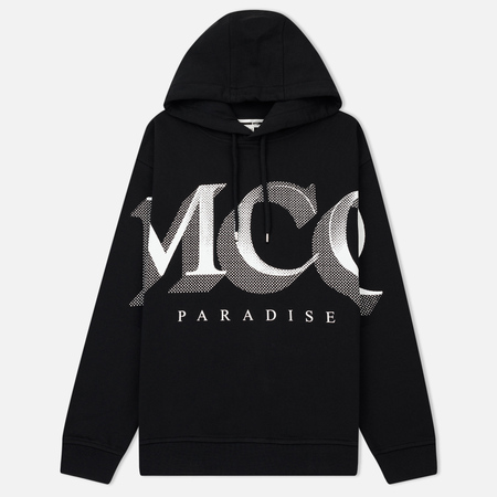 Женская толстовка McQ Alexander McQueen Boyfriend Hoodie MCQ Paradise Big Darkest Black