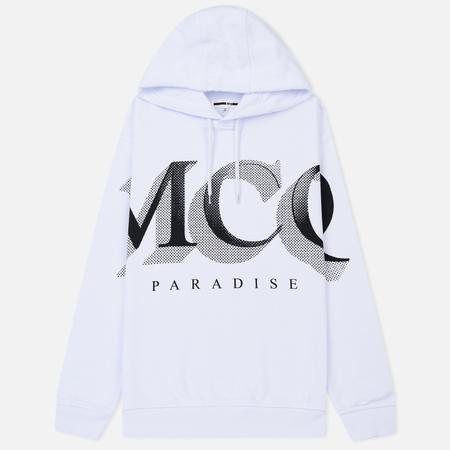 Женская толстовка McQ Alexander McQueen Boyfriend Hoodie MCQ Paradise Big Optic White
