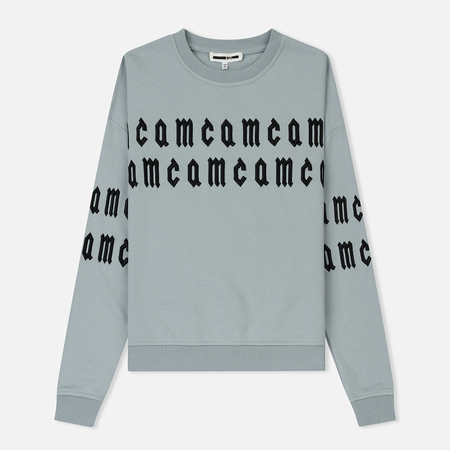 Женская толстовка McQ Alexander McQueen Slouch MCQ Embroidery White