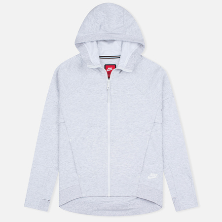 Nike Tech Fleece Full Zip Birch Women's Hoody Heather/White