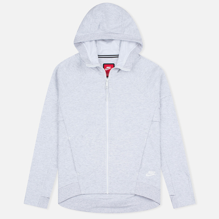 Женская толстовка Nike Tech Fleece Full Zip Birch Heather/White
