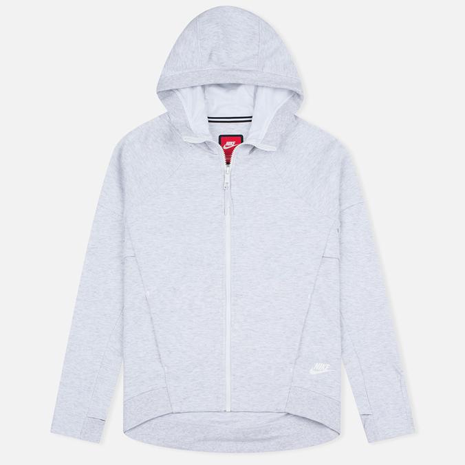 Женская толстовка Nike Tech Fleece Full Zip Birch Heather/White