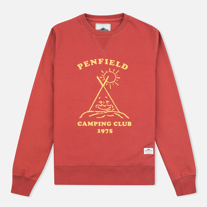Женская толстовка Penfield Camping Club Crew Neck Red