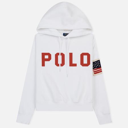 Женская толстовка Polo Ralph Lauren American Flag Patch Hoody White