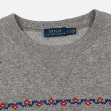 Женская толстовка Polo Ralph Lauren Bear Surrounded Playful Motifs Dark Vintage Heather фото- 1