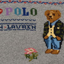 Женская толстовка Polo Ralph Lauren Bear Surrounded Playful Motifs Dark Vintage Heather фото- 2