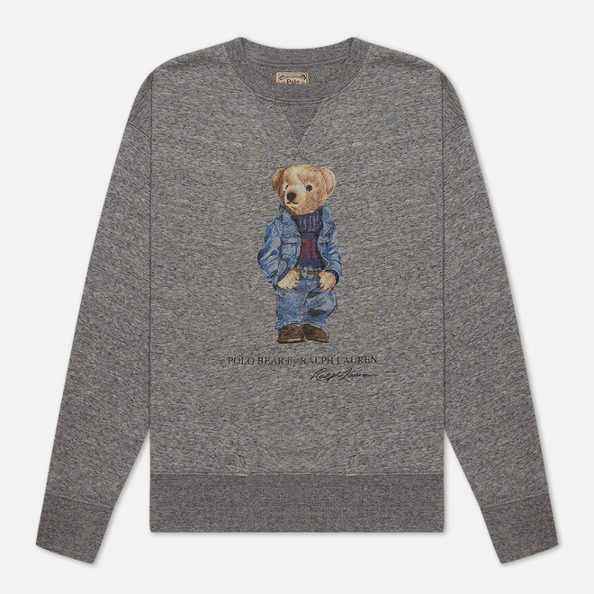 Женская толстовка Polo Ralph Lauren Denim Bear Featherweight Fleece Dark Vintage Heather