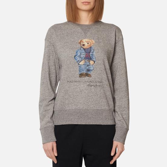 Женская толстовка Polo Ralph Lauren Denim Bear Featherweight Fleece Dark Vintage Heather