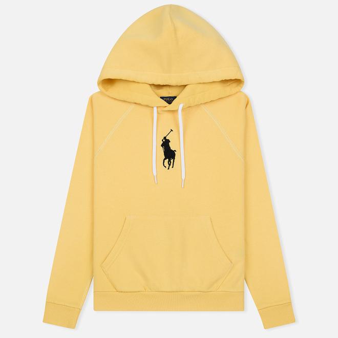 Женская толстовка Polo Ralph Lauren Embroidered Logo Kangaroo Pocket Hoody Fall Yellow