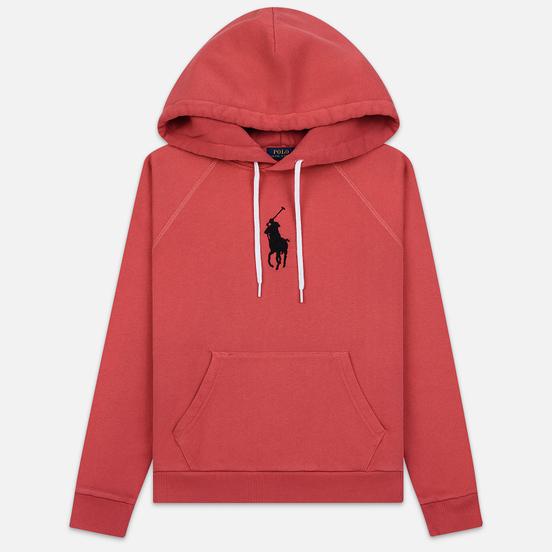 Женская толстовка Polo Ralph Lauren Embroidered Logo Kangaroo Pocket Hoody Nantucket Red