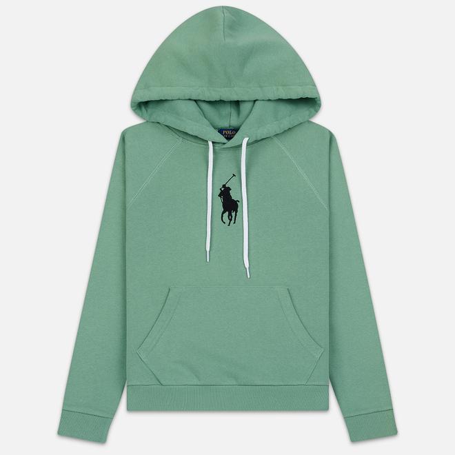 Женская толстовка Polo Ralph Lauren Embroidered Logo Kangaroo Pocket Hoody Pistachio