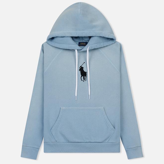 Женская толстовка Polo Ralph Lauren Embroidered Logo Kangaroo Pocket Hoody Powder Blue