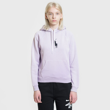 Женская толстовка Polo Ralph Lauren Embroidered Logo Kangaroo Pocket Hoody Spring Iris фото- 1
