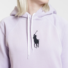 Женская толстовка Polo Ralph Lauren Embroidered Logo Kangaroo Pocket Hoody Spring Iris фото- 2