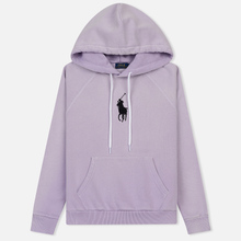 Женская толстовка Polo Ralph Lauren Embroidered Logo Kangaroo Pocket Hoody Spring Iris фото- 0