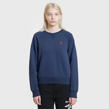 Женская толстовка Polo Ralph Lauren Embroidered Logo Seasonal Crew Neck Cruise Navy фото- 1